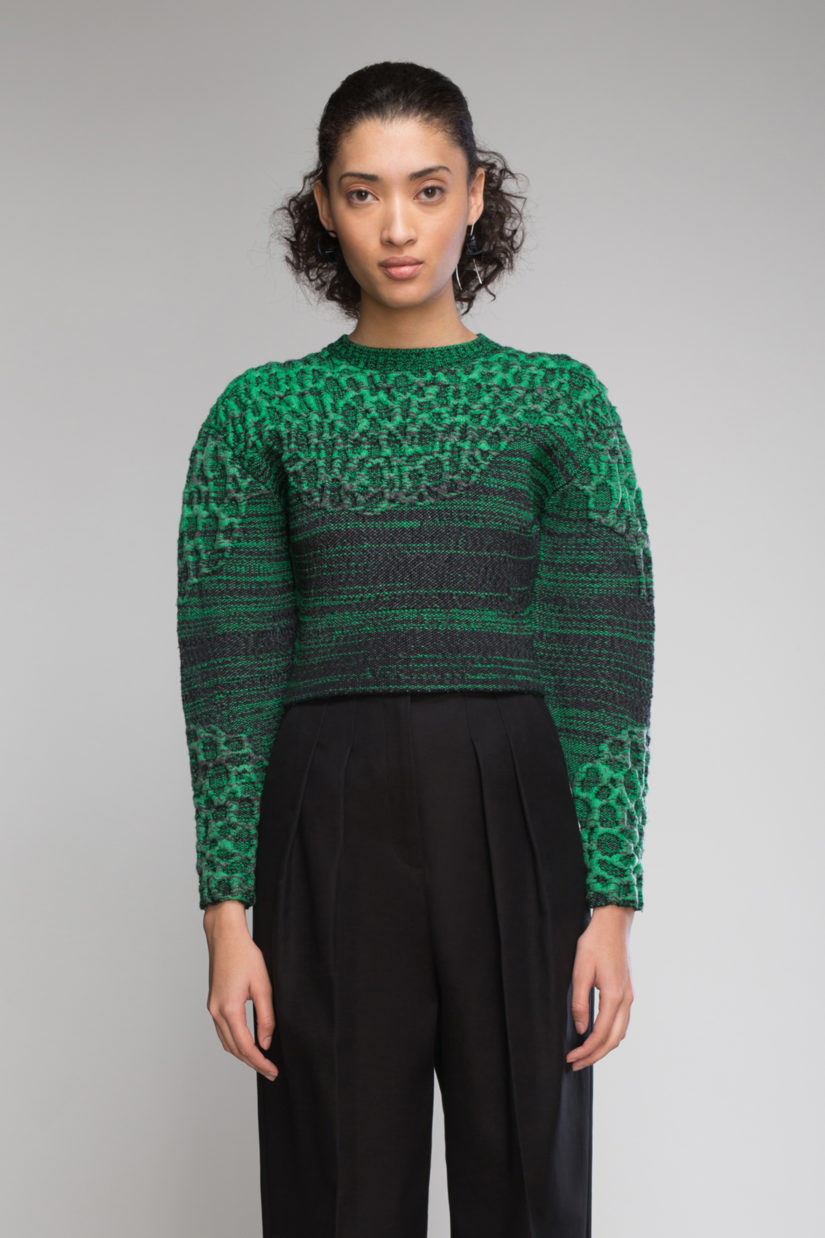 3D Lace Inlay Pullover