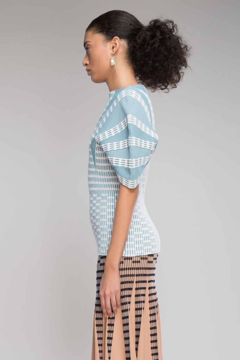 Check Ottoman Split Skirt