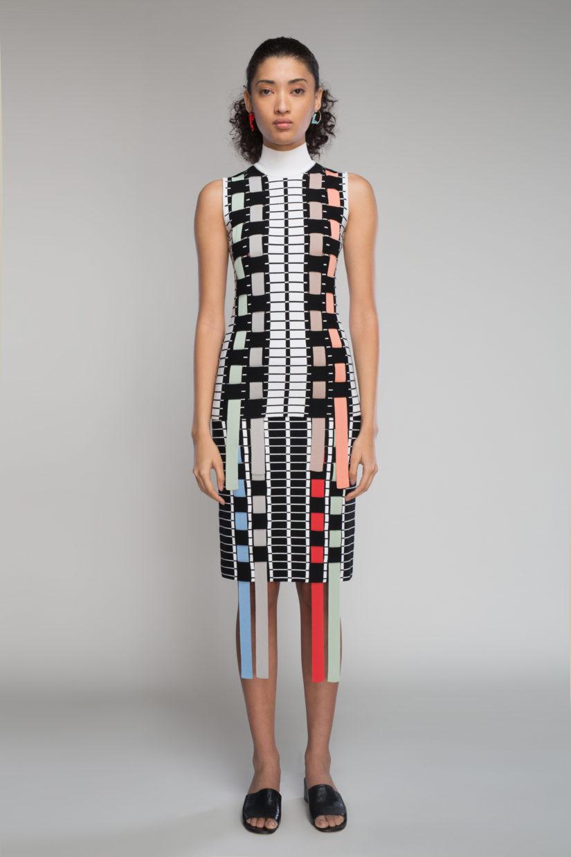 Intarsia Ribbon Weave Skirt