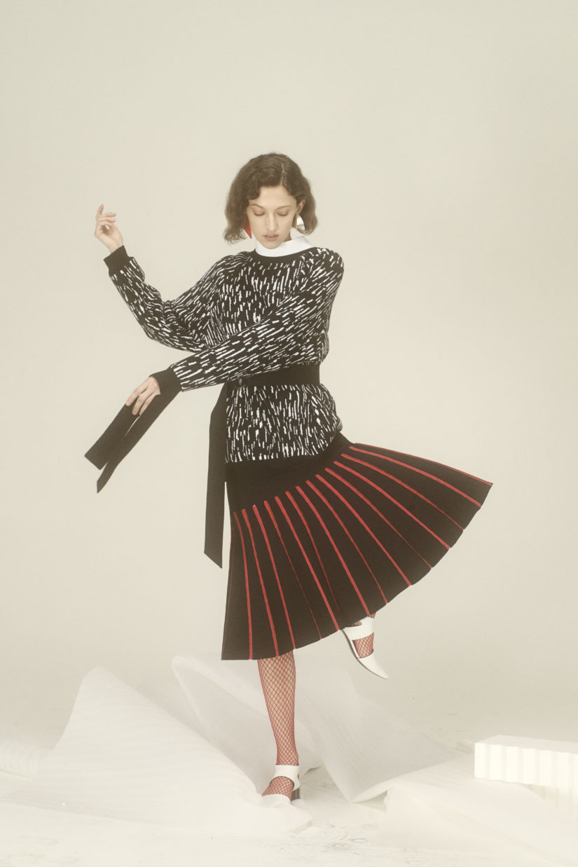 Rain Jacquard Cashwool Sweater