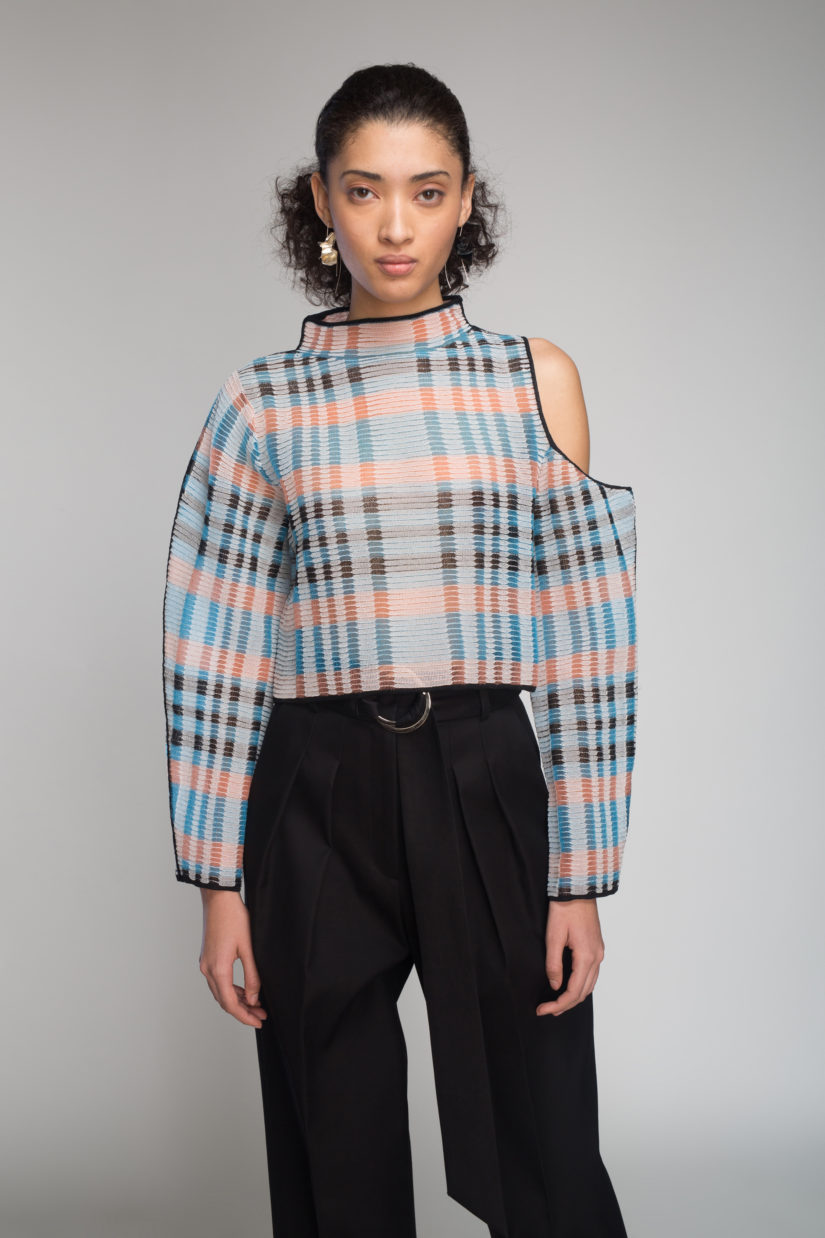 Sheer Ottoman Asymmetric Top